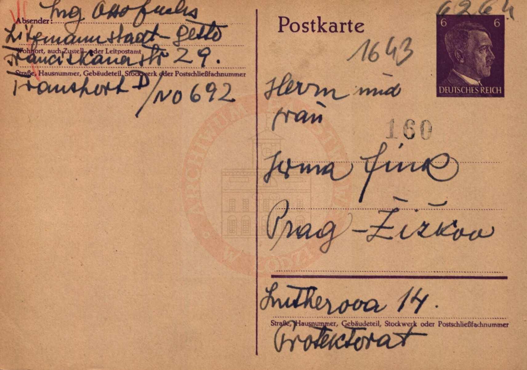 Flucht und Deportation Wien – Prag – Łódź